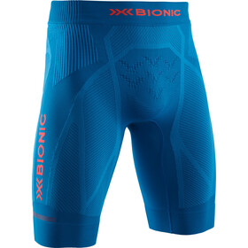 X-Bionic The Trick G2 Run Shorts Herre teal blue/kurkuma orange